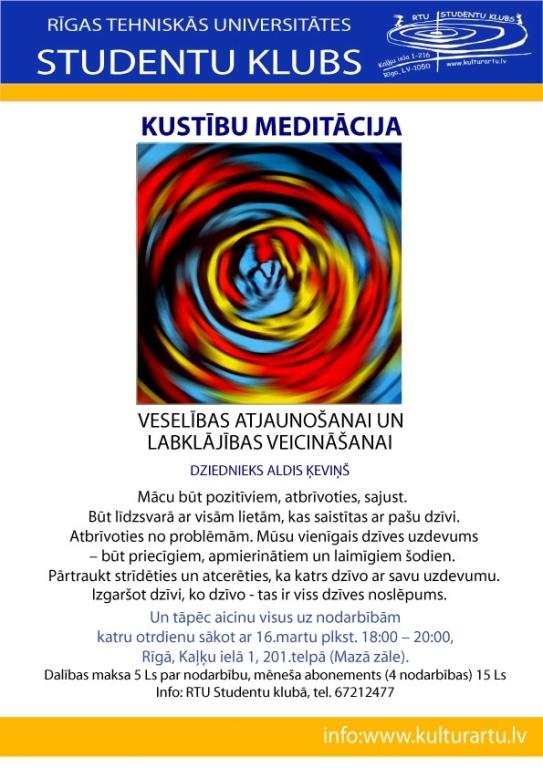 Kustību meditācija Aldis Ķeviņš