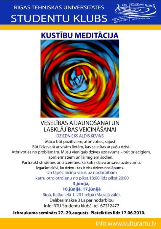Kustību meditācija RTU