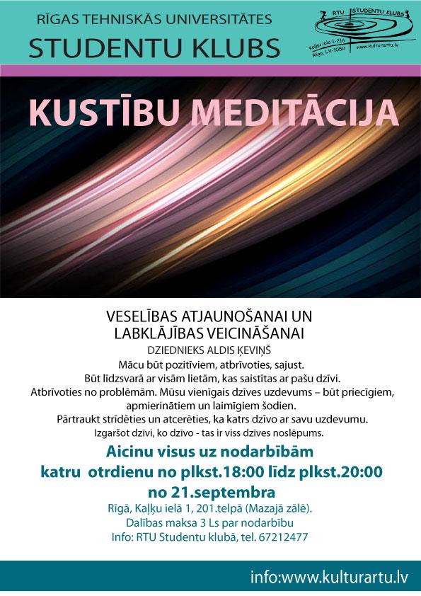 Kustību meditācijas nodarbības RTU